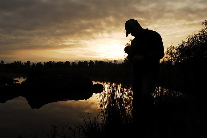 BH wetland sunset